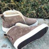 Распродажа Универсальные натуральные кожаные женские ботинки слипоны 32,33,34,35,36,37,38,39,40,41