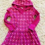 Красивое тёплое платье с длинным рукавом 104 рост