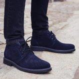 Мужские зимние Ботинки из натуральной кожи замши Производитель украина