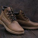 Зимние мужские ботинки Clarks olive 444W-M1
