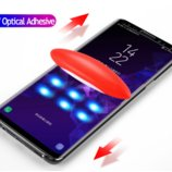 Защитное 3D стекло с Уф лампой для Samsung Galaxy S9 Note 9 Note 8 S7 edge S8 S8 plus S9 plus Nano