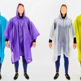 Дождевик для взрослых пончо многоразовый 1060 4 цвета