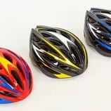 Велошлем кросс-кантри с механизмом регулировки AY-21 размер 58-61см, 3 цвета