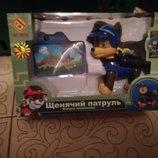 Набор-Щенячий патруль, Полли трансформер, мягкая игрушка, динозавры