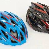 Велошлем кросс-кантри с механизмом регулировки YF-16 размер 58-61см, 2 цвета