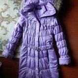 Зимнее пальто, внутри силикон, р-р 46, 48