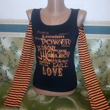 Модная женская кофточка джемпер с вырезами на плечах.Футболка кофта свитерок с длинным рукавом