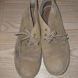 Ботинки туфли для дома и двора Вверх замш, внутри кожа 25.5-26 см