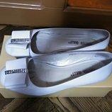Туфли кожа белые р.37-38, 24,5 см