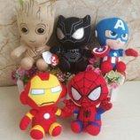 Мягкая игрушка супергерои Марвел, 16 см, новые