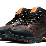 Мужские зимние ботинки на меху коричневые