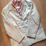 Красивый кожаный женский пиджак Altinook, размер 48, Хл
