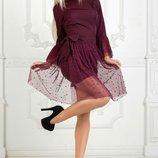 Платье со съёмной юбкой, Размеры 42, 44, 46