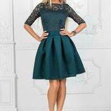 Платье с неопреновой юбкой, Размеры 42, 44, 46