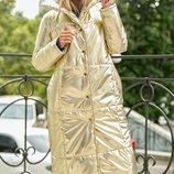 Пальто-Пуховик куртка плащевка на синтепоне скл.1 арт.46462
