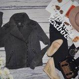 S - М/36 фирменная женская крутая куртка косуха джинсовый пиджак