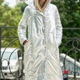 Пальто-Пуховик куртка плащевка на синтепоне скл.1 арт.46460