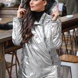 Асимметричная теплая куртка