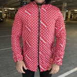 Куртка парка Supreme x Louis Vuitton Jacquard Monogram Red Parka Jacket
