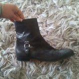Классные мужские кожаные ботинки Hugo Boss оригинал 43 28.5-29см