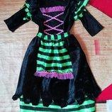 Карнавальное новогоднее платье королевы пауков, колдуньи. ведьмы на 2-5лет
