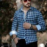 Утеплённые мужские рубашки Тм Rubaska. Размеры S, M, L, XL, XXL, 3XL