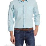 мужская рубашка голубая LC Waikiki/ЛС Вайкики