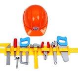 Набор инструментов Технок 11 элементов 4401 инструменты с каской пояс ролевые игры мастер мастерская