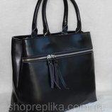 Кожаная сумка черного цвета , классика по лучшим ценам в Украине