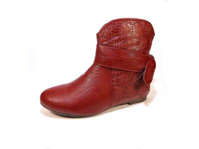 Ботинки-Полусапожки, женские, демисезон, весна-осень, красные. Размер 36-41