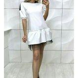Платье вечернее с фатином, Размеры S-M, M-L.