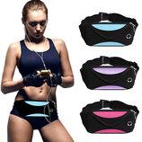 Спортивная сумка - бананка на пояс, через плечо грудь. Мужская и женская сумка для спорт бег йоги