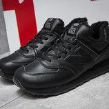 Кроссовки на меху New Balance 574, стелька 28,5 см и 28,9 см, кожа натуральная, ботинки зима зимние