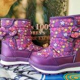 Зимние дутики на девочку Tom. m 3876-К, р. 23-28 термики термо черевики термоботинки том.м