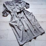 Шикарное атласное платье на запах р. 46