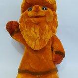 Игрушка кукла Ссср дед мороз новый год флок флокировка 22см