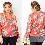 Блуза Мод 783 Ткань атлас-шелк Размеры 48, 50, 52, 54