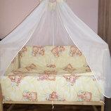 Детское постельное белье в кроватку Мишки спят 8 в 1