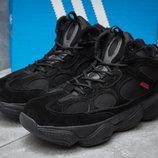 Зимние ботинки на меху Adidas Primaloft, черные