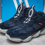 Зимние ботинки на меху Adidas Primaloft, темно-синий
