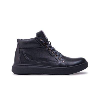 Мужские зимние кожаные ботинки Bastion 18082ч
