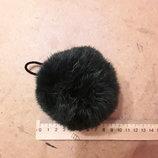 Меховые помпоны натуральный мех кролик брелок на сумку шапку