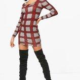 Booho,платье футляр, в клетку.44 размер, новое в фабричной упаковке.