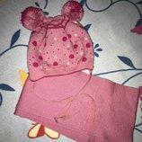 Комплект шапочка и шарфик Микимаус