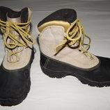Демисезонные кожаные непромокаемые ботинки Salomon. Размер 31 13К .