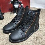 Ботинки мужские утепленные Louis Vuitton Harlem Damier Infini