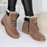 Женские зимние ботинки Тимберленд натуралка