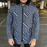 Парка зимняя Supreme x Louis Vuitton Jacquard Monogram Blue Parka Jacket