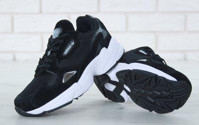 affde7096 Женские кроссовки Adidas Falcon Black White Адидас. Previous Next
