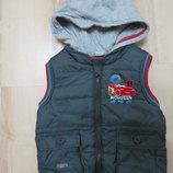 теплая жилетка на мальчика Тачки Disney2-3 года